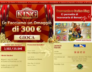 Casino King - Vecchia home page
