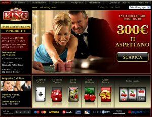 Casino King - Nuova home page