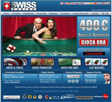 Casino Swiss - Nuova Home Page